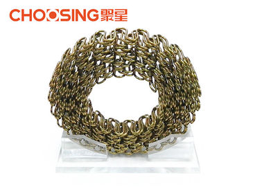 China Good Elasticity 4.0mm Sofa Upholstery Zig Zag Springs For Furniture In Roll Golden Color supplier