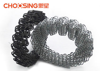 China Upholstery 8 Gauge Zig Zag Springs Black Color Zinc Plating Surface For Furniture Seat supplier