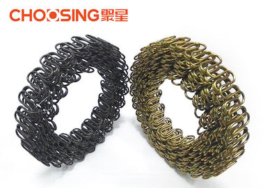 China Sofa Back Upholstery Zig Zag Springs 9 Gauge Wire Diameter Chrome Coating Surface supplier