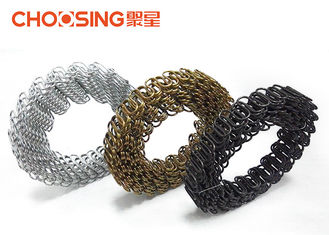 China 30 Mtr Roll Upholstery Seat Springs , Replacement Sofa Springs Silver Color Outstanding Elasticity supplier
