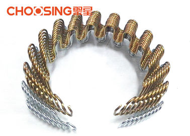 China 9 Ga 24 Inch Zig Zag Sofa Springs DIY Upholstery Golden Color Easy Installed supplier