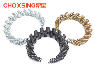 China 8.5 Ga Black Upholstery Seat Springs , Zig Zag Chair Springs Chrome Plating Surface supplier