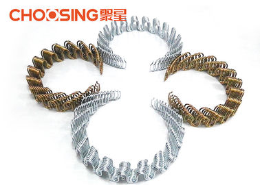 China Galvanized 8 Ga Zig Zag Sofa Springs , 20'' Sinuous Steel Wire , Oil Tempered No Sag Springs supplier