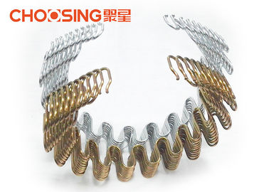 China 3.8mm Black Zig Zag Sofa Springs Replacement Settee Springs Sofa DIY , Serpentine Upholstery Springs supplier