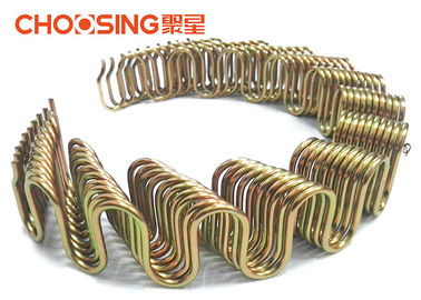China 18'' Sofa Back Zig Zag Sofa Springs 2.8mm - 4.0mm Antirust Treatment With Black Color supplier
