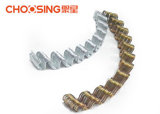 China Customized 3.4mm Zig Zag Sofa Springs Loop Height 46 - 48mm Anti Rust Featuring supplier