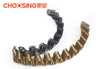 China OEM Zinc Plating Zig Zag Sofa Springs 2.8mm - 4.0mm Curved Shape Free Samples supplier