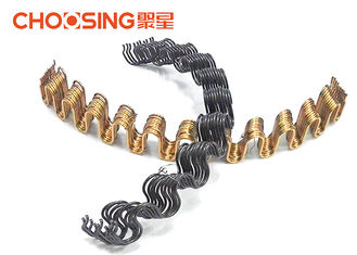 China Black Curved Shape Upholstery Seat Springs 300℃ Heat Treatment For Sofa And Chairs supplier