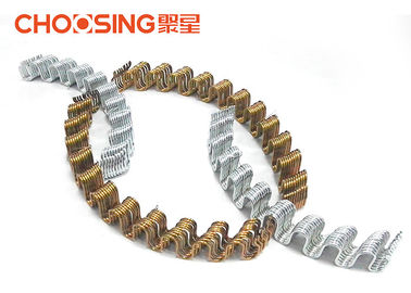 "China 3.4mm Zinc Plating Zig Zag Chair Springs , Upholstery Tension Springs Silver 20"" Length supplier"