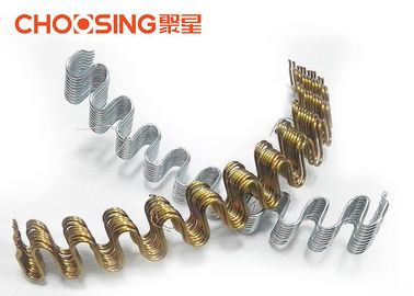 China Curved Shape Upholstery Seat Springs 3.4 - 4.0mm Wire Diameter Silver Color supplier