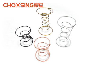 China Golden Chrome Plating Double Cone Springs Opening Diameter 80 - 130mm supplier