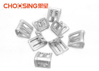 China Silver Color Furniture Spring Clips High Strength Metal Zinc Plating Materials supplier