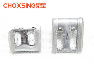 China 4 Holes Upholstery Spring Clips Plastic Half Covered 1.0mm Thickness Staple Clips supplier