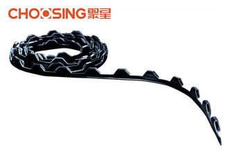 China Plastic Materials Zig Zag Spring Clip Strip 144 M / Roll Length No Change Of Tools supplier