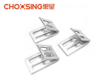 China Silver Color Zig Zag Spring Clips , Metal Upholstery Clips Eliminating Friction supplier