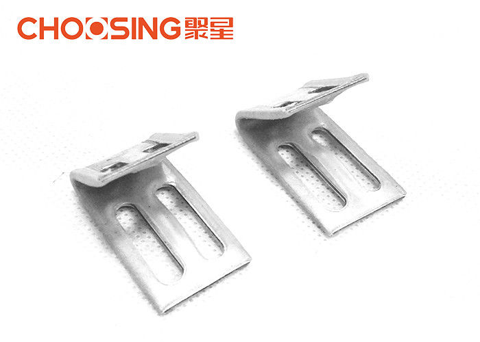 U Shape Metal Spring Clips Heavy Steel Construction With Plastic Covered