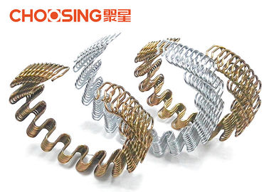 3.2mm High Arch Upholstery Zig Zag Springs Heat Treatment With Transparent Painting Coating