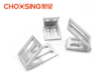Insulated 4 Hole Metal Spring Clips Full Plastic Coating To Resist Spring Abrasion
