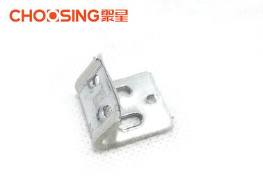5 Hole 1.0mm Metal Upholstery Clips , No Sag Spring Clips Galvanized Finished