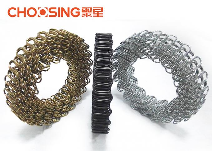 120 Feet Upholstery Zig Zag Springs 2.8mm - 4.0mm Wire Diameter OEM Accepted