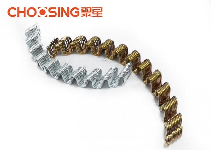 "3.4mm Zinc Plating Zig Zag Chair Springs , Upholstery Tension Springs Silver 20"" Length"