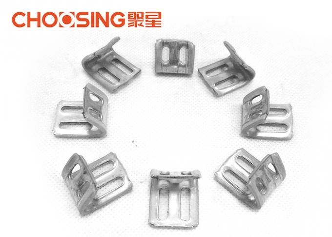 Galvanized 23mm Upholstery Spring Clips 0.8 - 1.0mm Thickness Long Lifetime