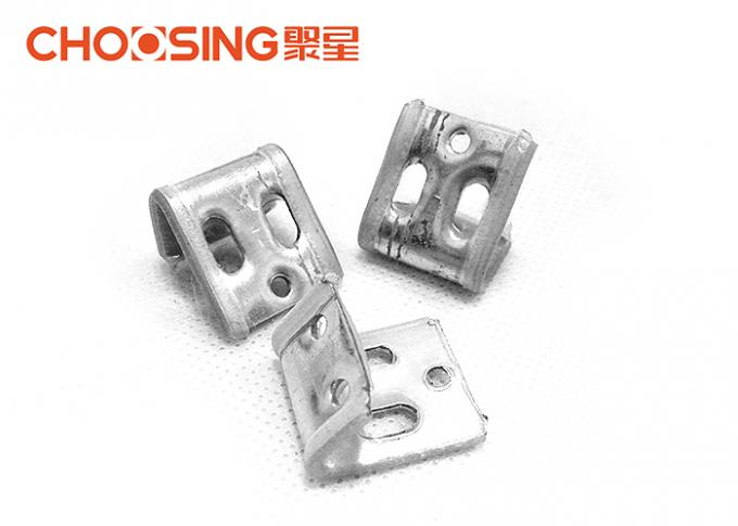 High Durability Sinuous Spring Clips , Couch Spring Clips Metal Thickness 0.8mm - 1mm